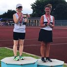 Emma Dyos and Lesley Morris in the 3,000m walk