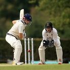 Middlesex's John Simpson batting during day two of the Bob Willis Trophy match at Radlett Cricket Cl