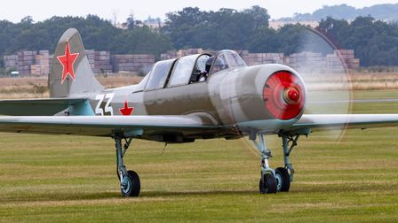Yakovlev Yak-52 at IWM Duxford's Flying Days: The Fighters.