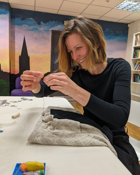 Miriam Drnakova upcycling in action