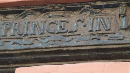 Princes In plaque on King Street, Norwich