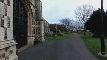 St Margaret's Church in Lowestoft where the attempted robbery occurred.