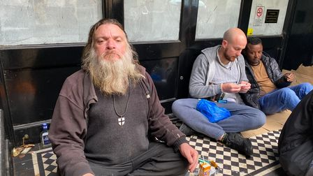 Mark Dergby, a former acrobat who is now homeless