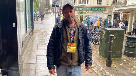 Mark Wallace, a homeless Big Issue seller