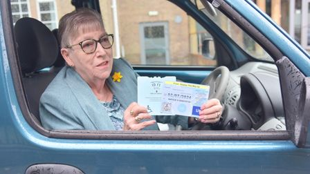 Jackie Hardy had issues with her disabled parking badges in Aldi car park on hall road. Byline: Son