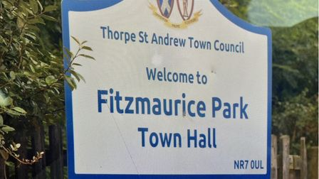 A sign for Fitzmaurice Park in Thorpe St Andrew