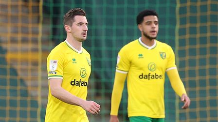 The Norwich players look dejected after conceding their side's 1st goal during the Sky Bet Champio