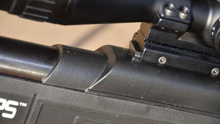 Close up of Picatinny rail on the SMK SPEC OPS Sniper MKII rifle package