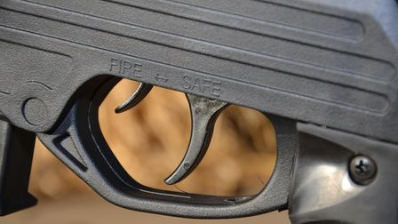 Close up of the trigger on the SMK SPEC OPS Sniper MKII rifle package