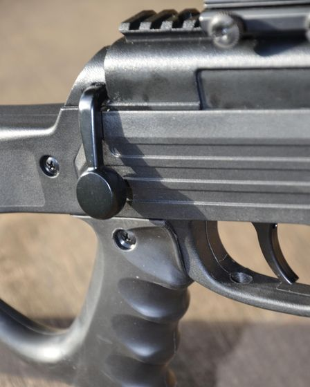 Close up of dummy bolt on the SMK SPEC OPS Sniper MKII rifle package