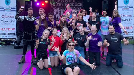 danceaid volunteers at this year's Party in the Paddock