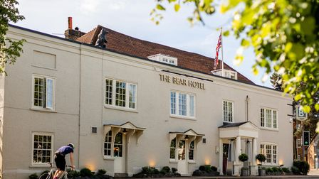 The Bear Hotel at the heart of the town of Esher