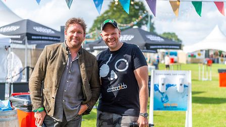 James Martin and Tom Kerridge atPub in the Park 2021 in St Albans.