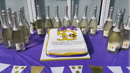 Staff and residents at Margaret House in Royston celebrated the home's 50th anniversary