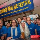 Organisers enjoying the ABBA night at Wedmore Real Ale Festival.