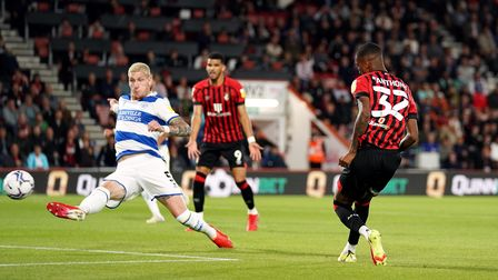 Bournemouth's Jaidon Anthony scores their side's first goal of the game during the Sky Bet Champions