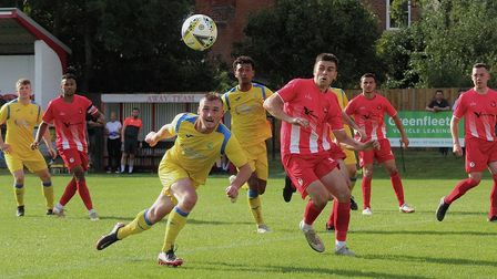 Harvey Scott hit the post and the crossbar on a frustrating night for Harpenden Town against Flackwell Heath.