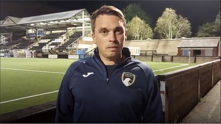 Weston AFC manager Scott Bartlett after his side's 1-0 win at Dorchester Town.