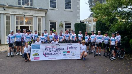 Day 1 - setting off from St Michael's Manor in St Albans.