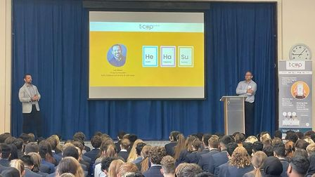 The launch of the T-Cup app at Samuel Ryder Academy.