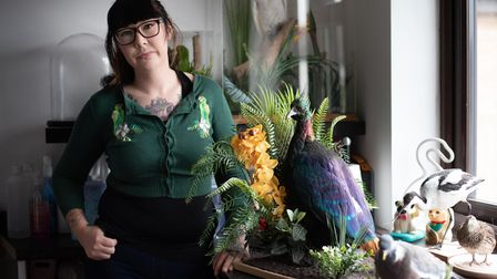 Hannah Debnam has been a taxidermist for eight years. Picture: Sarah Lucy Brown