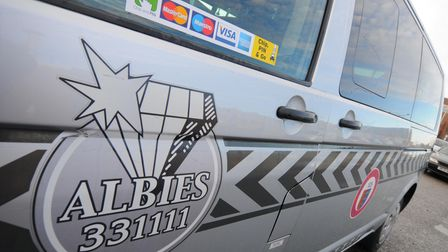 Albies Taxi company now offer a chip and PIN payment service. PHOTO: ANTONY KELLY