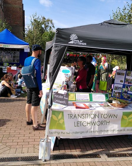 Transition Town Letchworth had a stall at the Green Festival