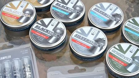The new range of BSA pellets in tins on a table