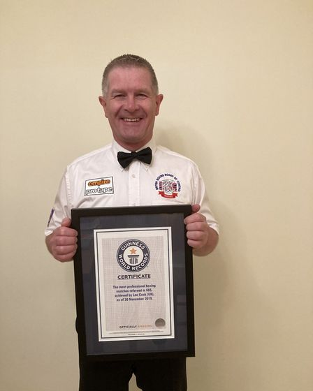 Lee Cook with his Guinness certificate Picture: Lee Cook
