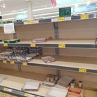 Supermarket shelves have been empty across the country.