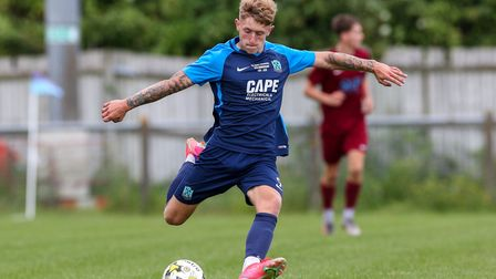 Archie Sayer has signed a new deal at Arlesey Town after two goals in the FA Vase.