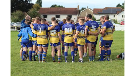Clevedon RFC after their game with Winscombe RFC at the Recreation Ground.