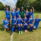 Hitchin Belles U16 Blues enjoy being back in action.