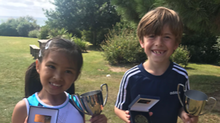 Gidea Park youngsters George Biggane and Freya Chiu were both crowned champions of the Essex closed singles competition