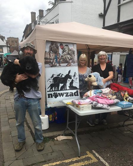 The charity stall on behalf of Nowzad.