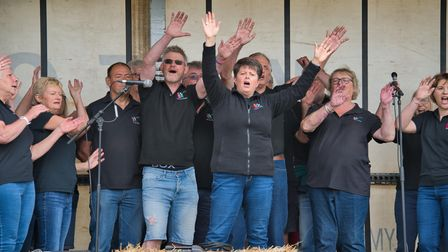 Lala Choir set the atmosphere at the Ottery Food and Families Festival