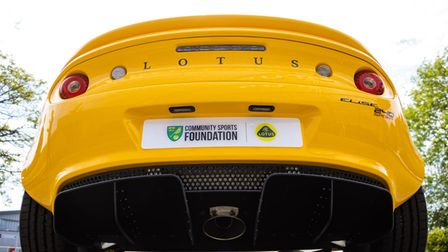 The Lotus Elise Sport 240 Final Edition which is raising funds for the Norwich City Community Sports Foundation