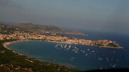 Calvi fortress and town from above