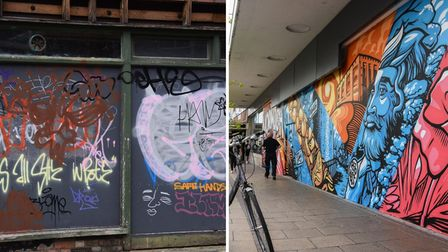 Norwich artist Andrew Wilson has said you can't have lovely murals without people tagging their names in spraypaint alongside