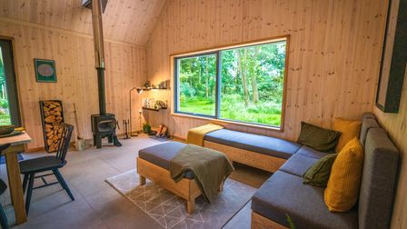 Lark is well insulated with triple glazing and warming wood