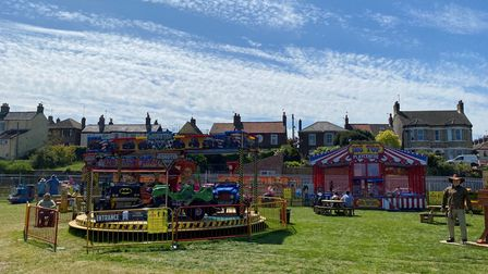 Fairground rides have reappeared at Pops Meadow in Gorleston. Picture: DANIEL HICKEY