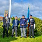 At the Battle of Britain service at Cromer's North Lodge Park