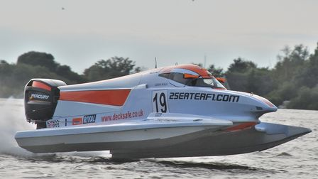 LOBMBC powerboat racing on Oulton Broad.
