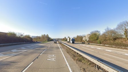 There are severe delays on the A14 following reports of a crash