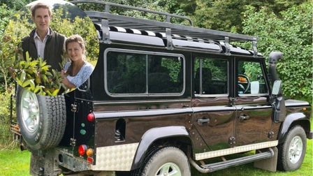 Farmer Oliver Gurney (inset) is ditching his beloved Land Rover to go greener