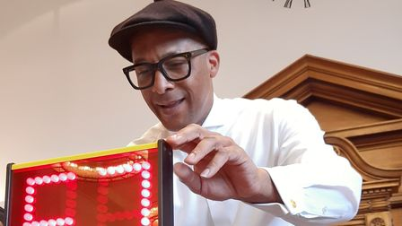 The Repair Shop's Jay Blades became a bingo caller for a day at an east London event.