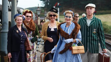 The 1940s weekend at Weybourne station. Photo: KAREN BETHELL