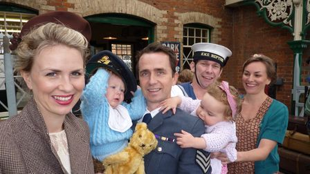 The Tennant and Brewster families out in force at the North Norfolk Railway 1940s weekend. Picture: