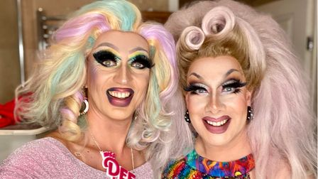 Miss DeeLicious and Mindy Pendant host popular Drag Bingo event in the city.