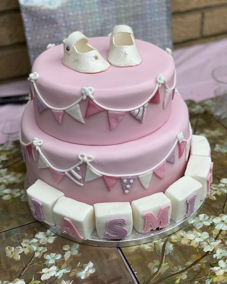 Cake with shoes on the top